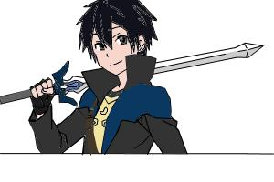 Kirito With Sword :P