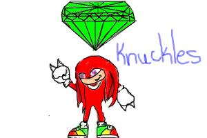 Knuckles And The Chaos Emerald