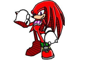 Knuckles The Echidna (Sonic Riders Style)