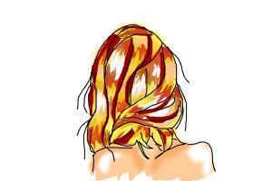 Messy Sideswept Hair