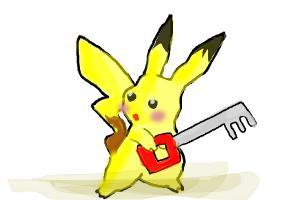 Pickachu Has a Keyblade Xd