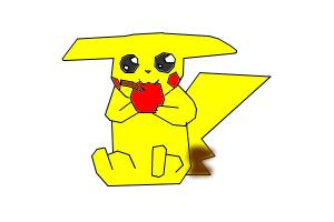 Pikachu with an Apple