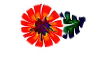 Rainbow Tie Die Flower