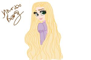 How To Draw Rapunzel Drawingnow