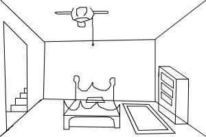 how to draw a room drawingnow. Black Bedroom Furniture Sets. Home Design Ideas