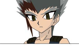 Ryuga Kishatu Beyblade Metal Fury i think :P