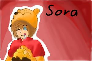 Sora And Hes Winni Pooh Cosplay
