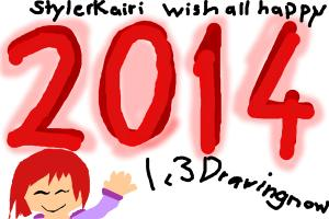 Stylerkairi Wish Drawingnow And All Happy 2014!:)