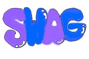 the word SWAG in bubble letters