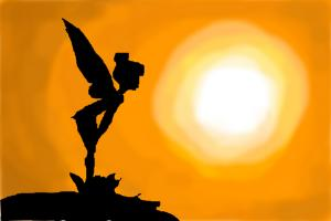 tinkerbell sunset shadow picture