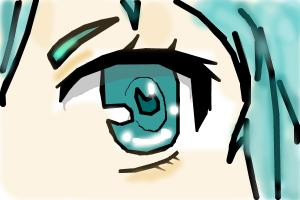 Tutorial drawing eye Miku