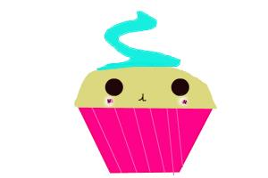 Vanilla Kawaii Cupcake