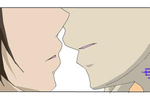 XD it looks like a kiss sence XD
