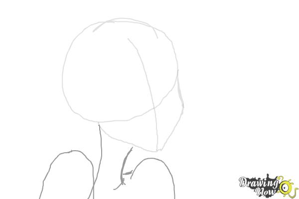 How to Draw Nikki J. Maxwell from Dork Diaries - Step 2