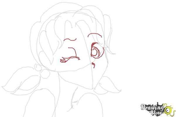 How to Draw Nikki J. Maxwell from Dork Diaries - Step 5