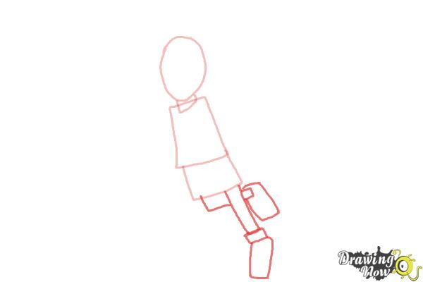 How to Draw a Basketball Player - Step 3