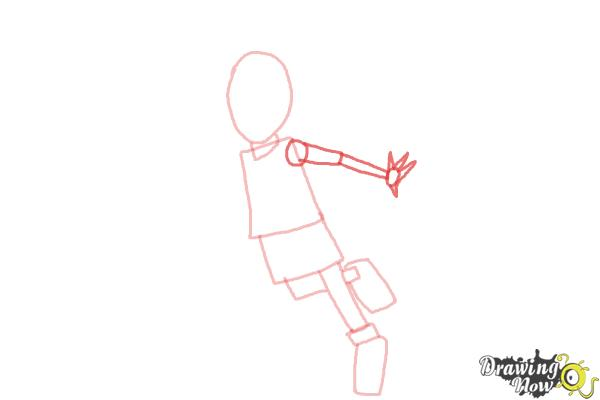 How to Draw a Basketball Player - Step 4