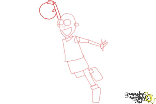 How to Draw a Basketball Player - Step 6