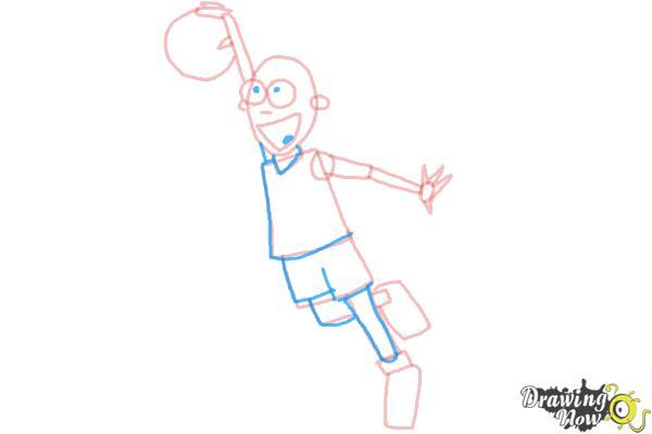 How to Draw a Basketball Player - Step 7