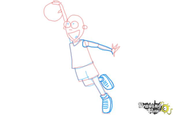 How to Draw a Basketball Player - Step 8