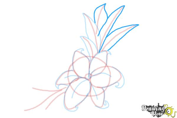 How to Draw a Beautiful Flower - Step 10