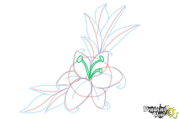 How to Draw a Beautiful Flower - Step 12