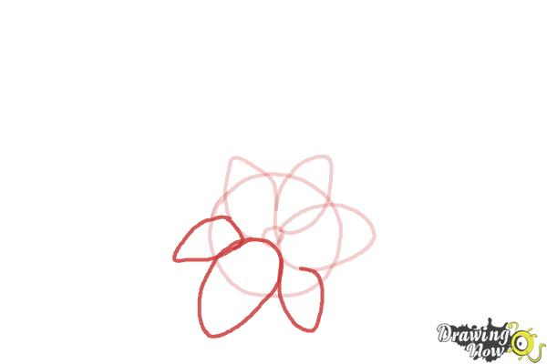 How to Draw a Beautiful Flower - Step 3