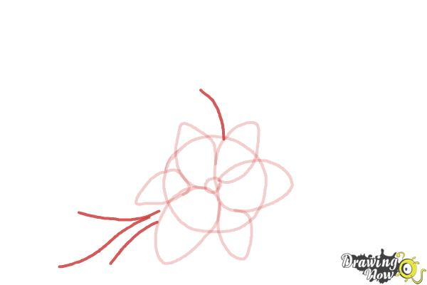 How to Draw a Beautiful Flower - Step 4