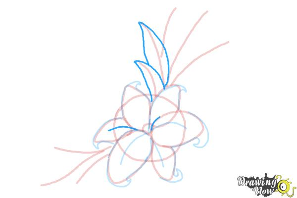 How to Draw a Beautiful Flower - Step 9