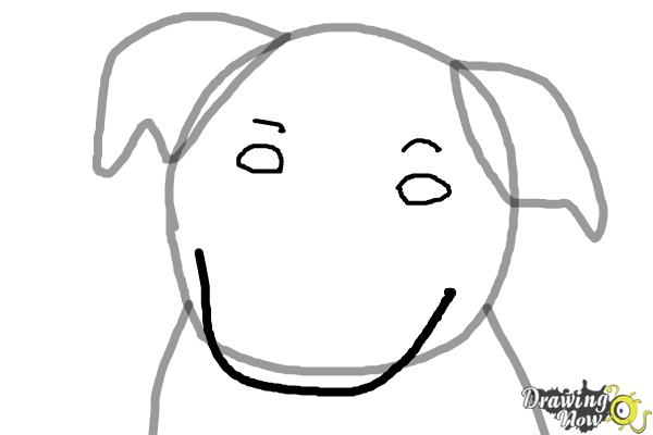 How to draw a dog face step 3