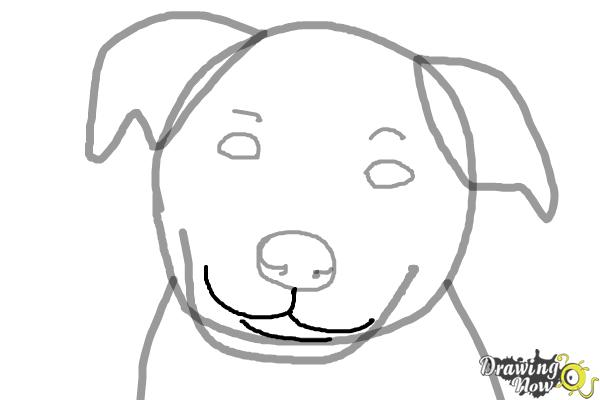Line Drawing Dog Face : How to draw a dog face drawingnow