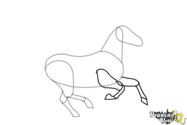 How to Draw a Horse Running - Step 5
