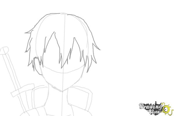 How to Draw Asuna And Kirito from Sword Art Online - Step 4
