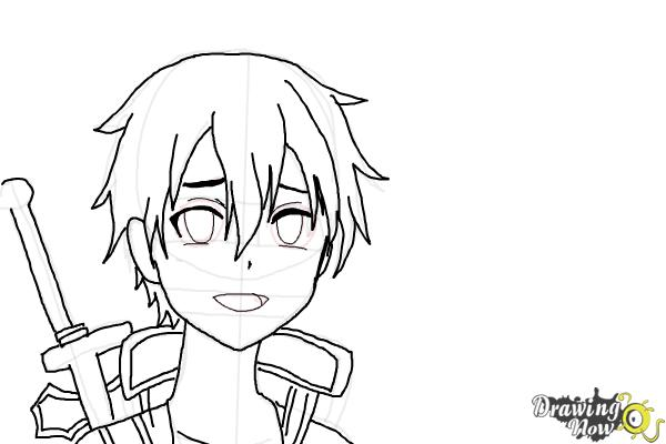 How to Draw Asuna And Kirito from Sword Art Online - Step 6