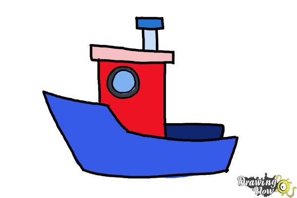 How To Draw A Fishing Boat Drawingnow