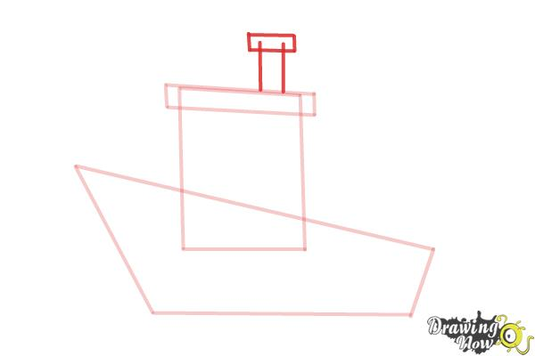 How to Draw a Fishing Boat - Step 5