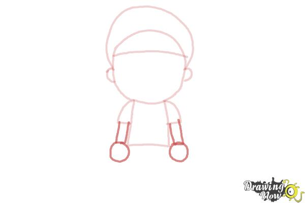 How to Draw a Little Boy - Step 5