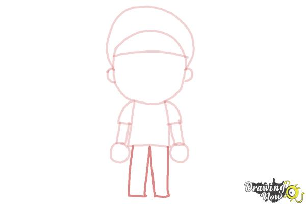 How to Draw a Little Boy - Step 6