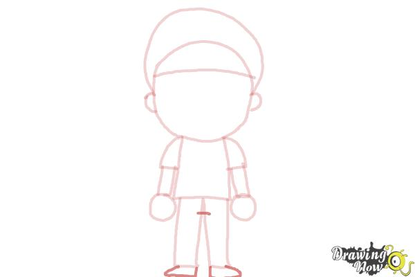 How to Draw a Little Boy - Step 7