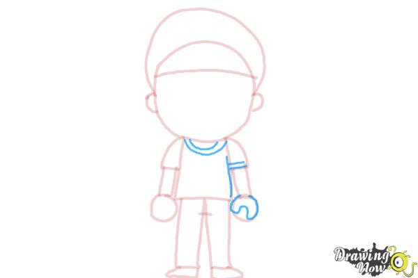 How to Draw a Little Boy - Step 8