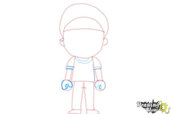 How to Draw a Little Boy - Step 9