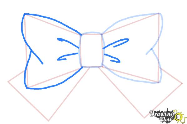 How to Draw a Bow Tie - Step 5