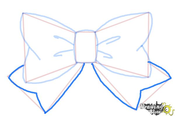 How to Draw a Bow Tie - Step 6
