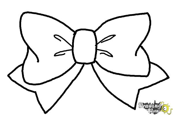 How to Draw a Bow Tie - Step 7