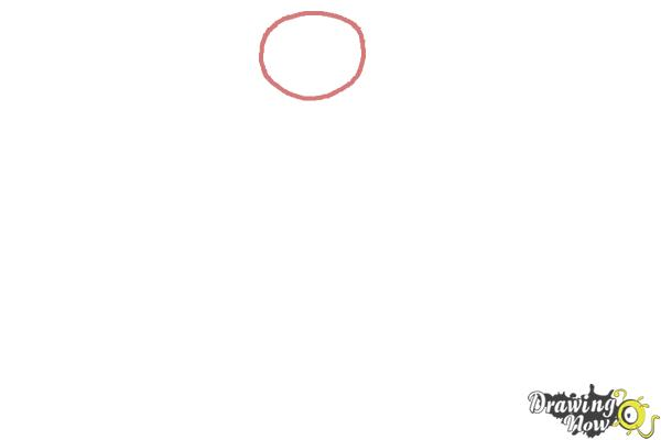 How to Draw Buddha - Step 1