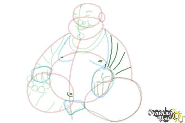 How to Draw Buddha - Step 12