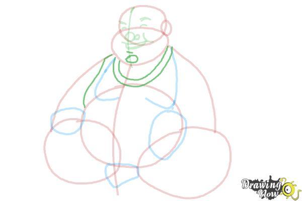 How to Draw Buddha - Step 8