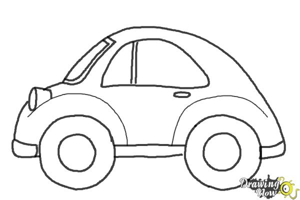 How to Draw a Simple Car - Step 10