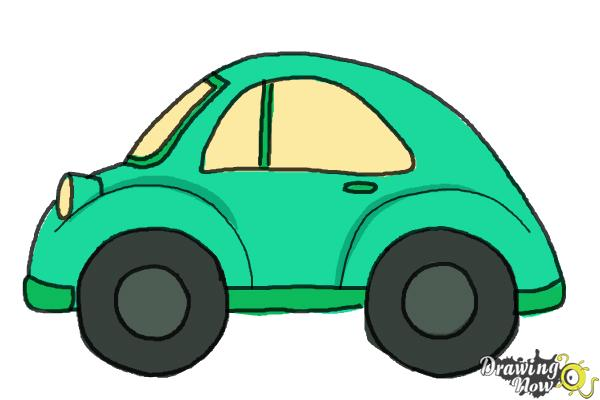 How to Draw a Simple Car - Step 11