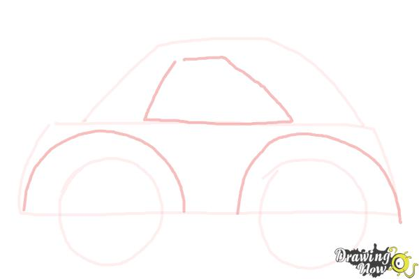 How to Draw a Simple Car - Step 3